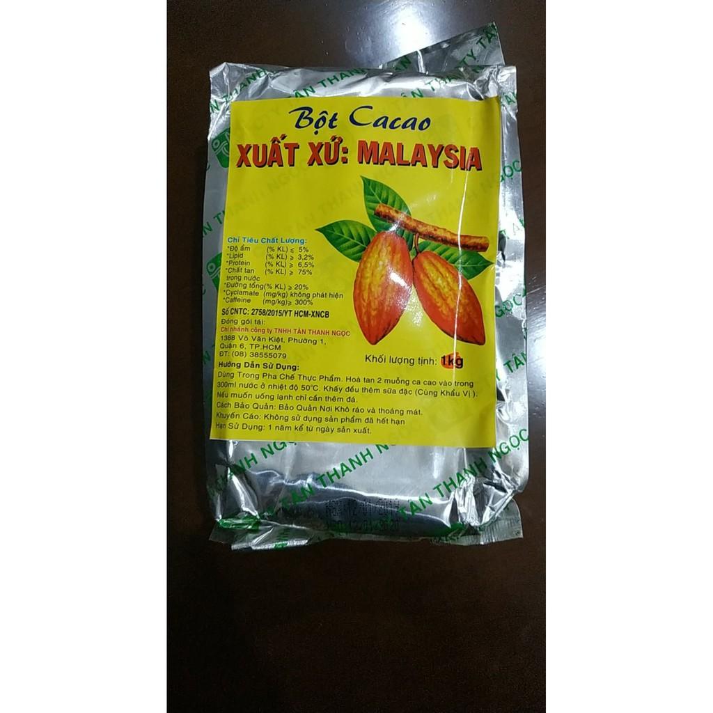 Bột Cacao Malaysia Giấy Bạc Nhãn Vàng