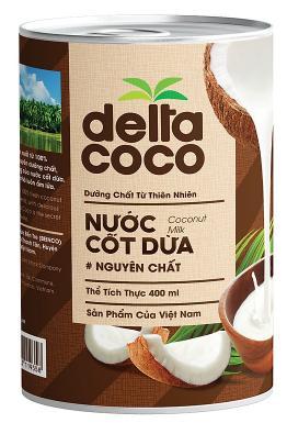 Nước cốt dừa Delta Coco 400ml
